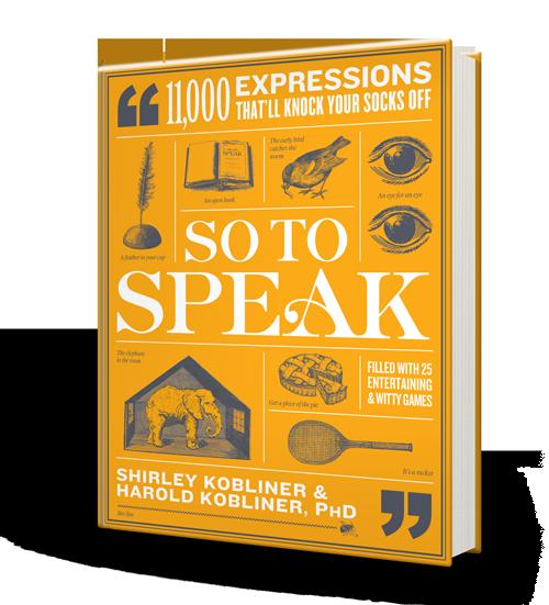SO TO SPEAK Cover